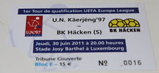 ticket for collectors EL UN Kaerjeng BK Hacken 2011 Luxembourg Sweden