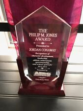 """11"""" Acrylic Award Employee of the Month/Retirement/Sports Plaque-Free Engraving"""