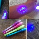 Cool 3Pcs Invisible Ink Spy Pen Built in UV Light Magic Marker Secret Message