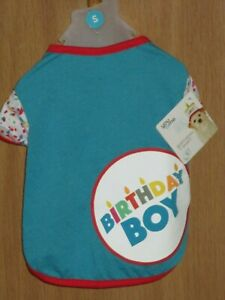 You & Me Small 13 - 15 IN Birthday Boy Dog T-Shirt