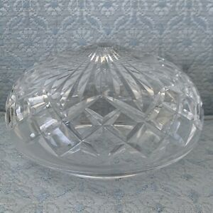 """Waterford Crystal 6.5"""" Ceiling Light Fixture Shade Dome Bowl Globe Vintage Glass"""