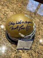 Rudy Ruettiger Signed Play Like A Champion Notre Dame Mini Helmet BECKETT COA 2
