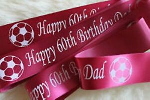 Personalised Cake Ribbon 50mm wide Poly ribbon Any Occasion 1 metre lengths