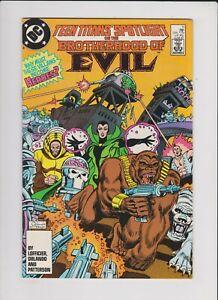 TEEN TITANS SPOTLIGHT: BROTHERHOOD OF EVIL #11 DC 1987 FN-