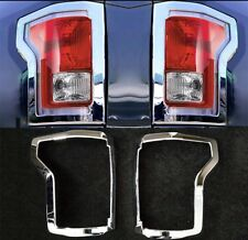 Chrome Taillight Cover fit Ford F-150 2015-2017 Rear Trucks Lamp Accessories
