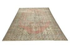 Turkish Rug, Vintage Handmade Anatolian Handknotted Wool Area Rug Carpet,Vintage