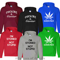 COCAINE AND CAVIAR Addicted MARIJUANA SMOKE WEED EVERYDA SWEATSHIRT JUMPER HOODY
