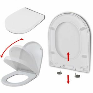 Weißer WC-Sitz mit Absenkautomatik und Quick-Relase-Funktion eckig A8K5