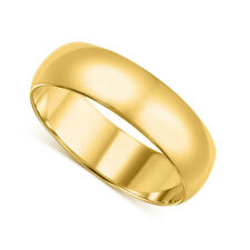 14k Yellow Gold 6-mm UNISEX Standard-fit Polished Wedding Band