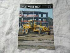 John Deere 770C 770CH 772CH motor grader brochure