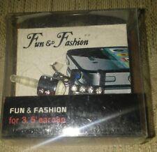 """Fun & Fashion E 3.5"""" Ear Cap Silver Rhinestones Cell Phone Accessories"""