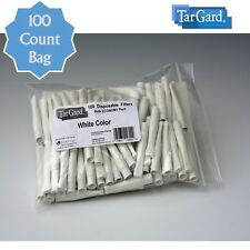 TarGard Disposable Cigarette Filters Bulk Bag of 100 - White Tar Gard Block Stop