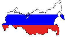 """Auto Aufkleber RUSSLAND Russia Decal Sticker 11cm (4.3"""") konturg. die-cut"""