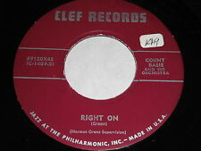 Count Basie: Right On / Cherry Point 45 - Clef