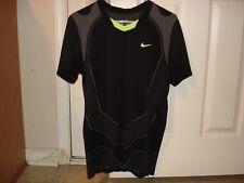 Nike Nadal Vamos Court 2010 Open Black Tennis Shirt Federer 381364-010 Med RARE