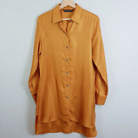 [ ZARA ] Womens Silk Tunic / Shirt Top - As new | Size XS or AU 8 or US 4
