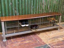 More details for vintage industrial 1960s school shoe rack / shoe storage / shoe bench