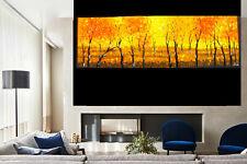 Bush Fire Scrub Art oil original painting custom Australia abstract landscape