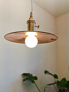 An 2 Av Price each all copper hanging pendant light fixture 16 x 10.5 in.²