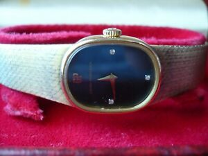 Girard Perregaux ladies watch, gold plated, model 4408VF w/ box and certificate.