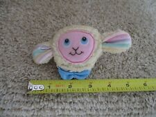 FISHER PRICE Doll Plush Puffalump Lamb Sheep hand rattle Vintage Wrist Baby toy