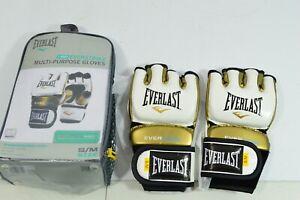 Everlast Everstrike Multi-Purpose Gloves Black Gold White S/M