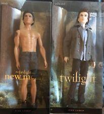 Barbie PINK LABEL Collector EDWARD & JACOB 2 DOLL Set Twilight Saga New Moon