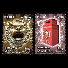 "Peru 2011 - America UPAEP ""Mailboxes"" Postal Service Art - Sc 1771 MNH"