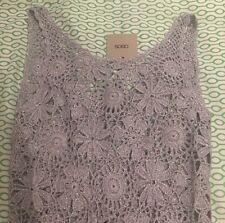 Asos Crochet Beach Cover Up Dress Glitter Festival Boho 8 10 S