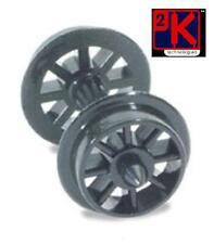 PECO NR-101 - 4 x Axles Hardlon Spoked Wagon Wheels Pointed Axle 'N' Gauge 1stPO
