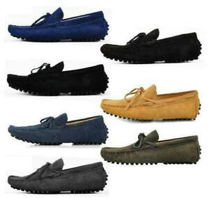 New Mens casual Moccasin Loafer slip on comfort suede boats Driving Shoes GRCM