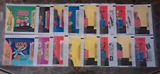16 STAR WARS TRADING CARD WAX PACK WRAPPERS:NEW HOPE,EMPIRE STRIKES BACK,JEDI