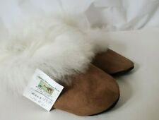 NEW Sawdust hill Handmade Alpaca Leather Slippers Booties Brown shoes size 5-6