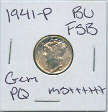 1941-P Mercury Dime Uncirculated US Mint PQ Silver Coin Gem BU FSB MS++++++
