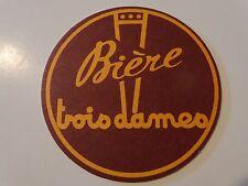 Beer Bierdeckel COASTER ~ Brasserie TROIS DAMES Biere ~ Saint-Croix, SWITZERLAND