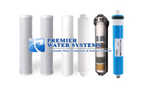 Replacement RO Filters & 75 GPD Membrane for 6 Stage Reverse Osmosis + Alkaline
