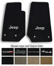Jeep Wrangler Velourtex Carpet 2pc Front Floor Mat Set - Choose Color & Logo