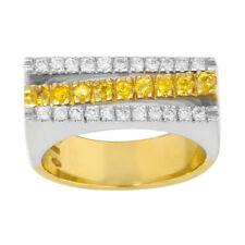 Anelli di lusso con gemme in oro giallo diamante Misura anello 7