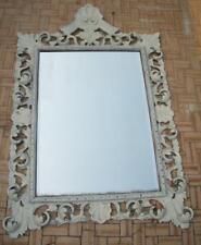 Grande100x77 specchio specchiera Savoia rilaccata bianco stile Shabby Liberty
