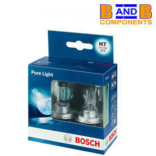 BOSCH H7 PURE LIGHT HALOGEN HEADLAMP BULBS 477 499 12v 55w TWIN PACK A1396