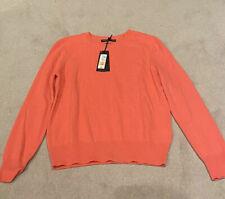 Marks & Spencer M&S Size 10 Cashmere Coral Orange Jumper BNWT