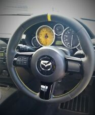 Mazda MX5  - steering wheel trimming service - leather/alcantara and thickened