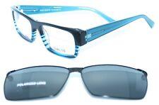 TAKUMI TK974 050 53/17 New BLUE Authentic MEN EYEGLASSES W/ CLIP & CASE Frame