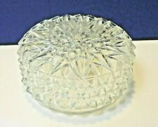 "Crystal Clear 7-3/4"" Fitter Glass 9"" Drum Shade G1017 NEW Vintage Diamond Design"