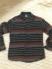 RARE Hang ten vintage long sleeve shirt L retro black, red, and gray striped