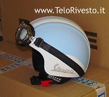 Casco Vespa Vintage retrò personalizzato in pelle azzurro celeste S,M,L,XL