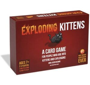 EXPLODING KITTENS Original Edition Card Game - Brand New & Sealed - FREE UK P&P