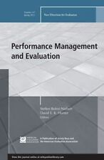 Performance Management and Evaluation: New Directions for Evaluation,-ExLibrary