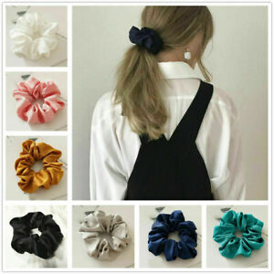 Women Girl Hair Scrunchies Stain Elastic Hair Bands Scrunchy Rope Ties CA
