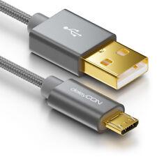 deleyCON 1m Micro USB Kabel Nylon Ladekabel Datenkabel Sync Kabel Handy Tablet
